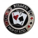 Card Guard Bullets Plateado